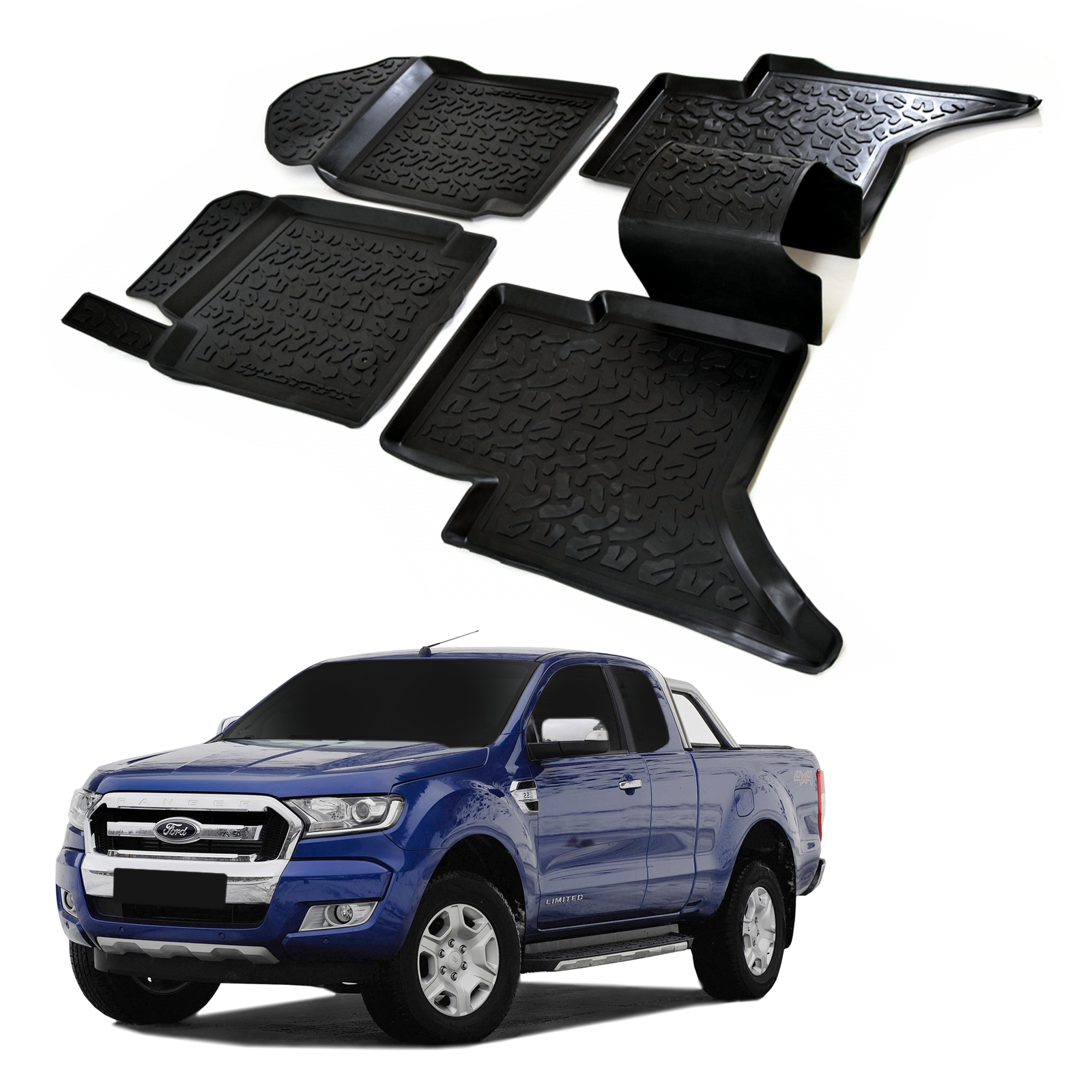 Gumové rohože 3DS SCOUTT Ford Ranger 2012-up