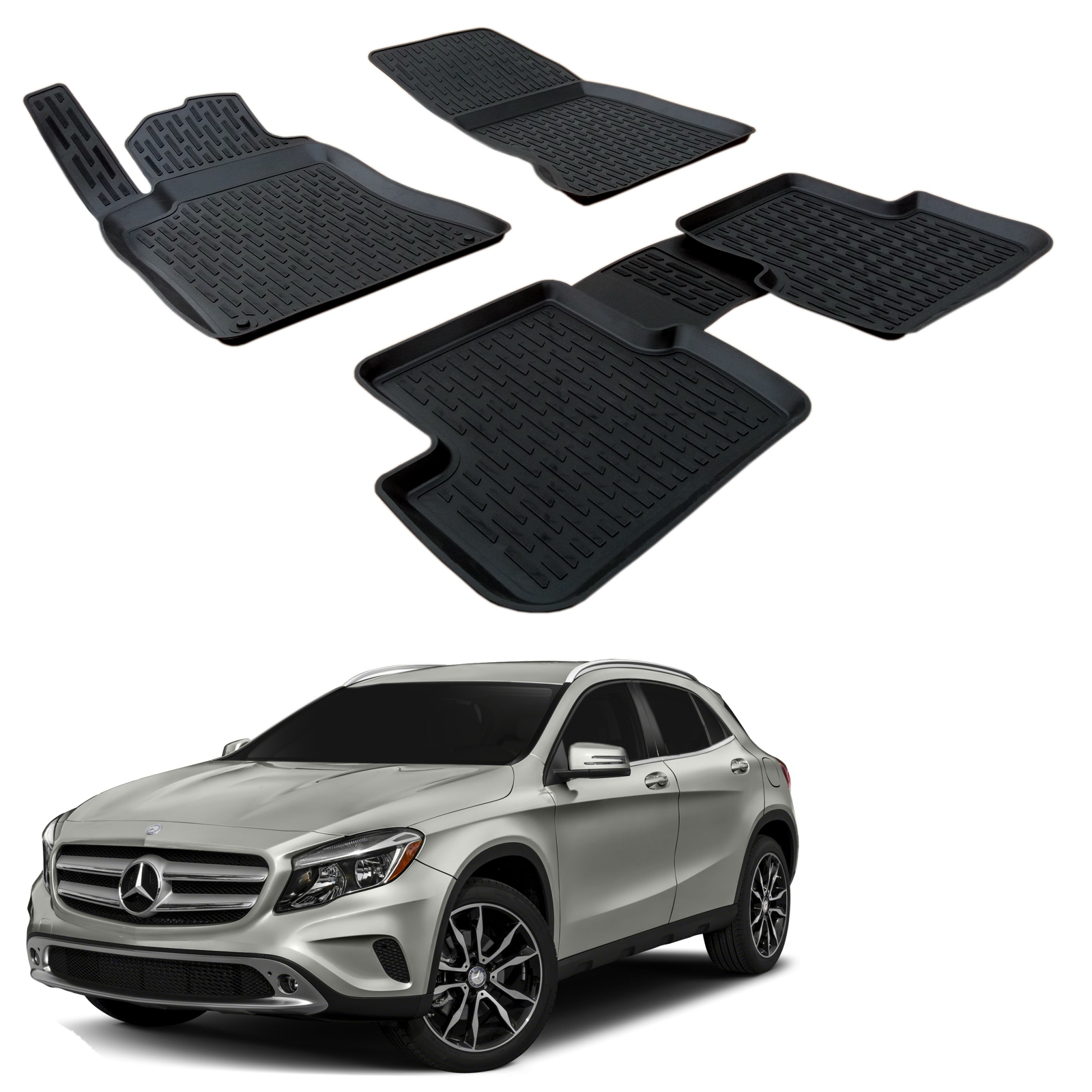 Gumové rohože 3DS SCOUTT Mercedes GLA 2014-up