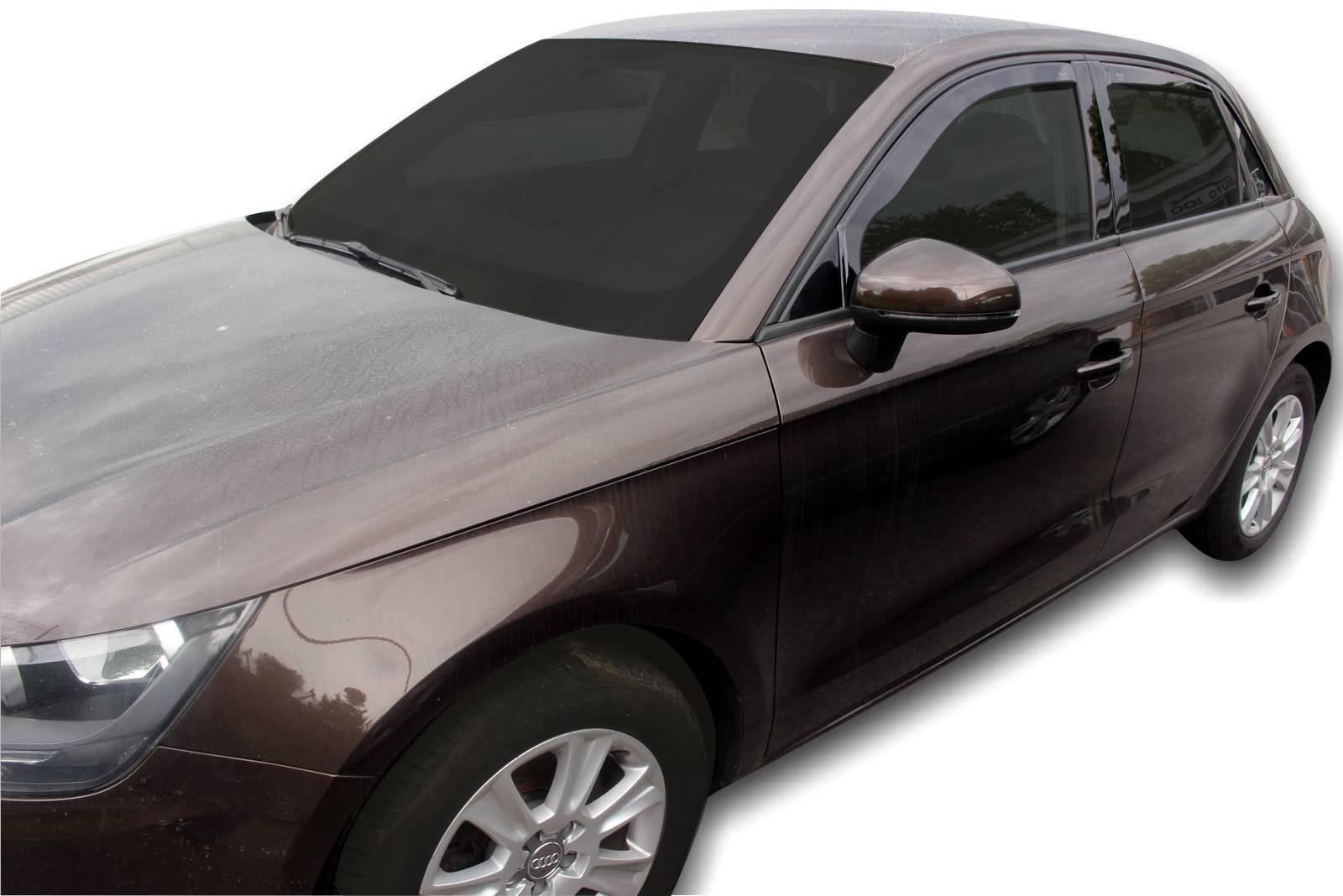 Okenné deflektory Audi A1 5D 2012-up 4 ks predné+zadné