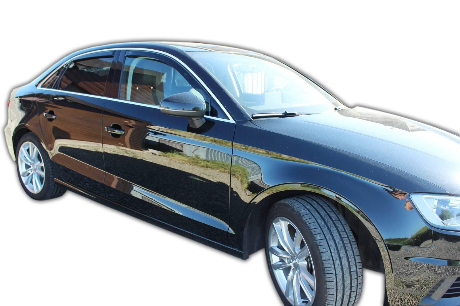 Okenné deflektory Audi A3 4D SEDAN 2012-up 4 ks predné+zadné