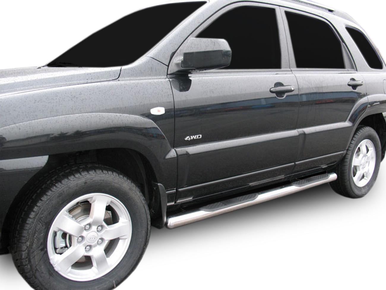 Bočné nerezové rámy Hyundai Tucson 2004-2009