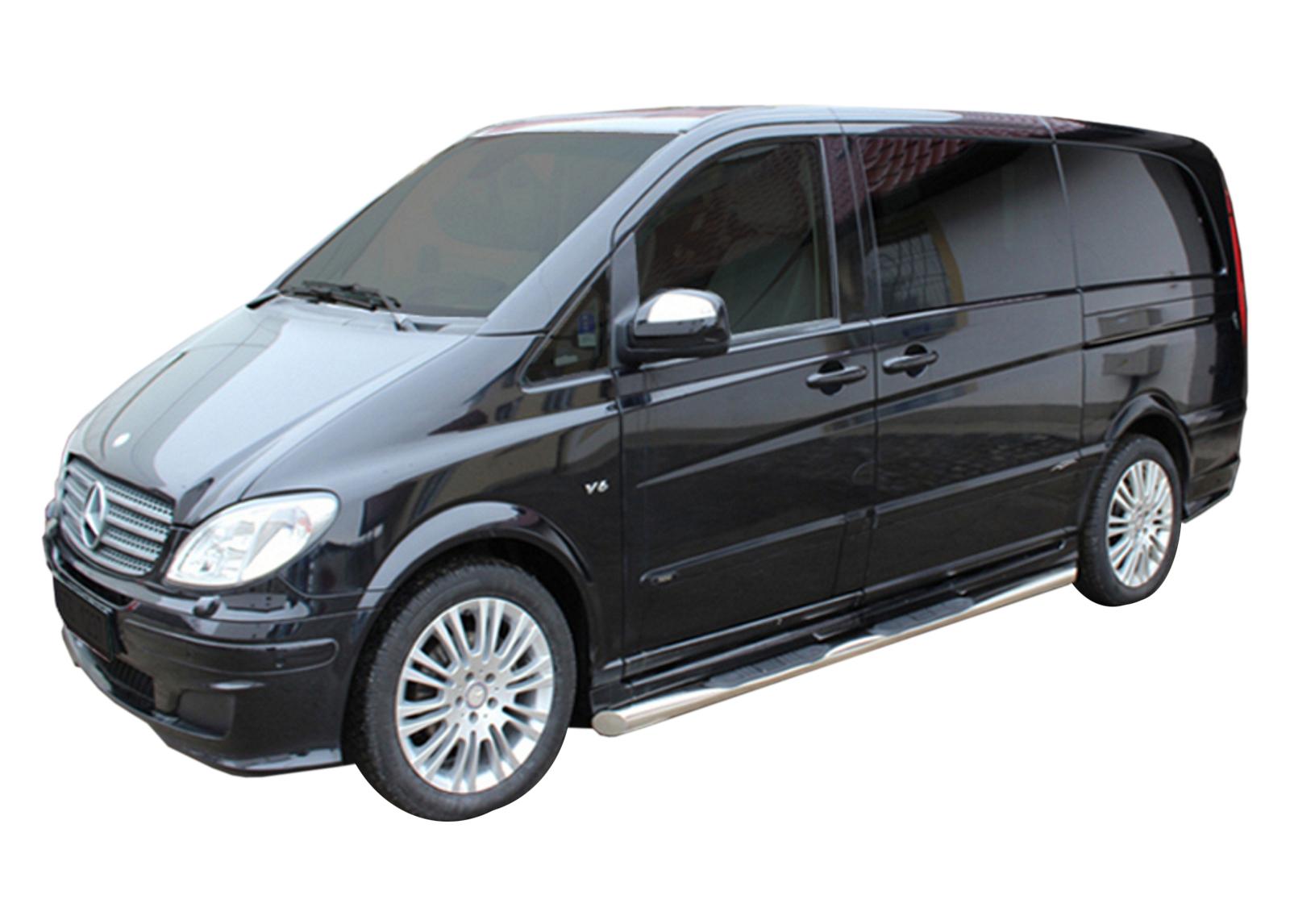Bočné nerezové rámy Mercedes-Benz Vito W639 SWB 2005-2013