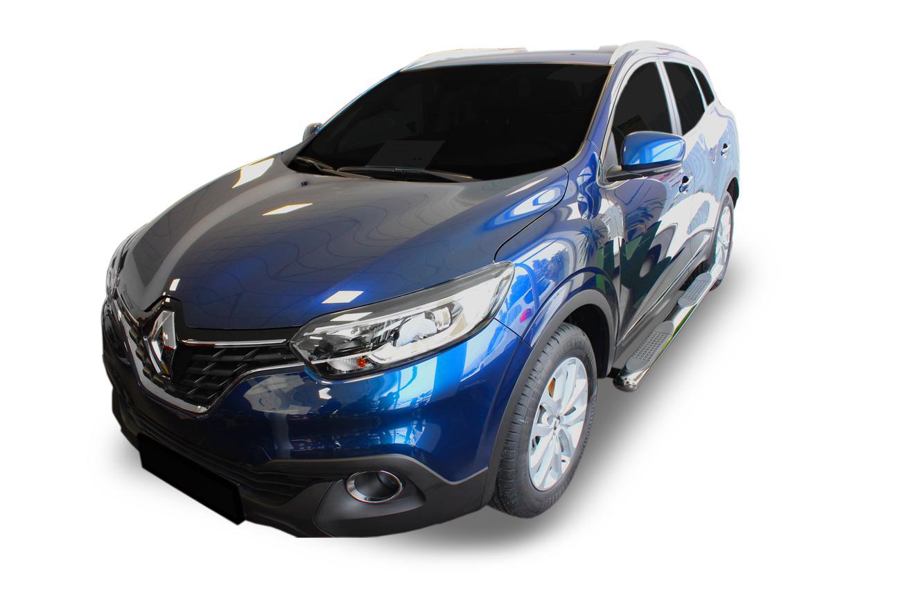 """Bočné nerezové rámy Renault Kadjar 4"""" oval 2015-2019"""